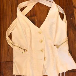 BEBE linen vest